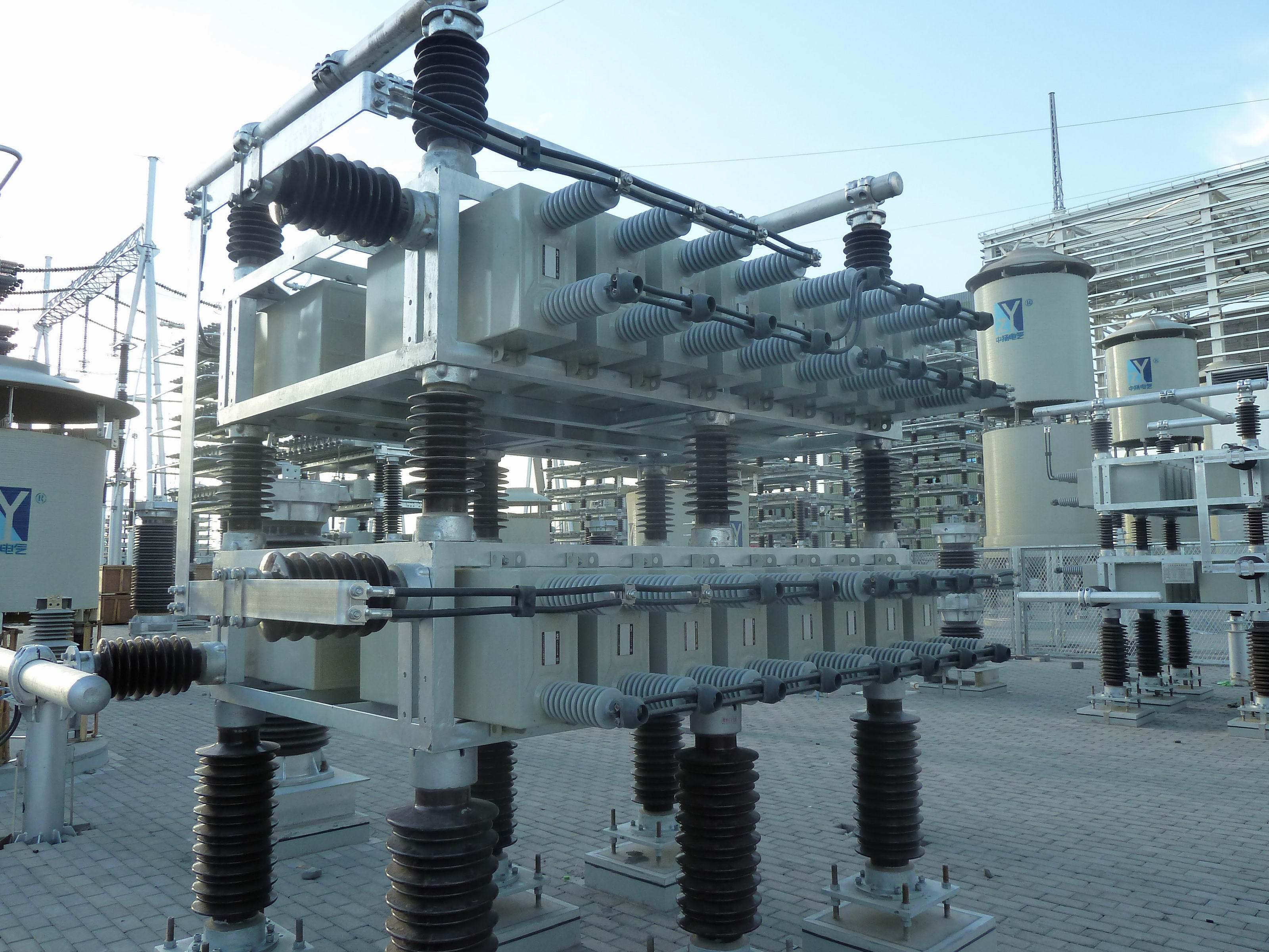 ±400kV直流场TDL651-0.5型联网工程直流电容器装置