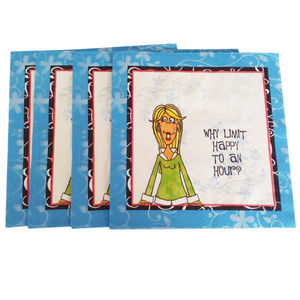 多色印刷香气加厚纸巾